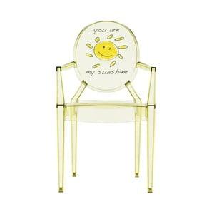 Detská transparentná stolička Kartell Lou Lou Ghost Sun