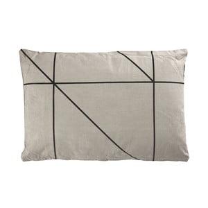 Vankúš Zone Grey&Black, 60x40 cm