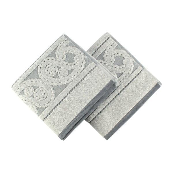 Sada 2 sivých uterákov Hurry, 50×90 cm
