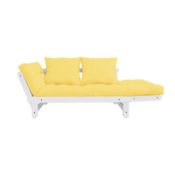 Rozkladacia pohovka Karup Design Beat White/Yellow