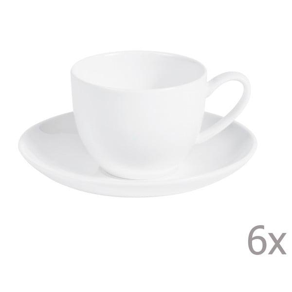 Sada 6 kávových šálok s tanierikmi Anna