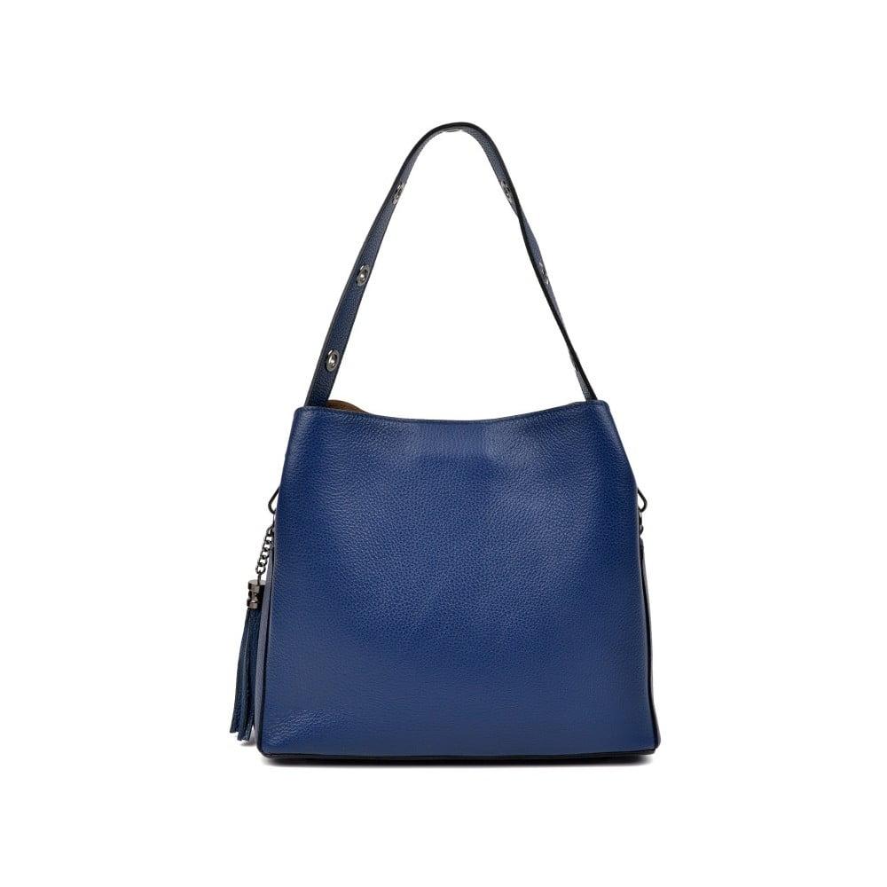 Modrá kožená kabelka Isabella Rhea Hilly