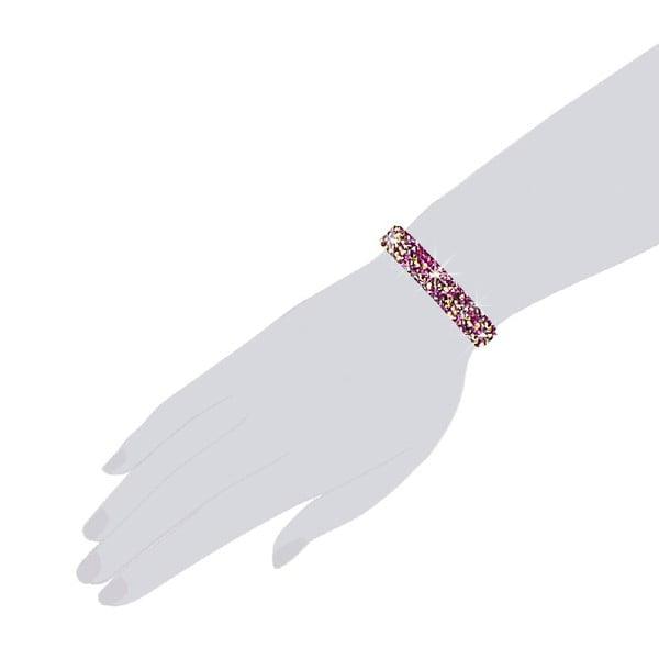 Náramok Bling Pink, 17 cm