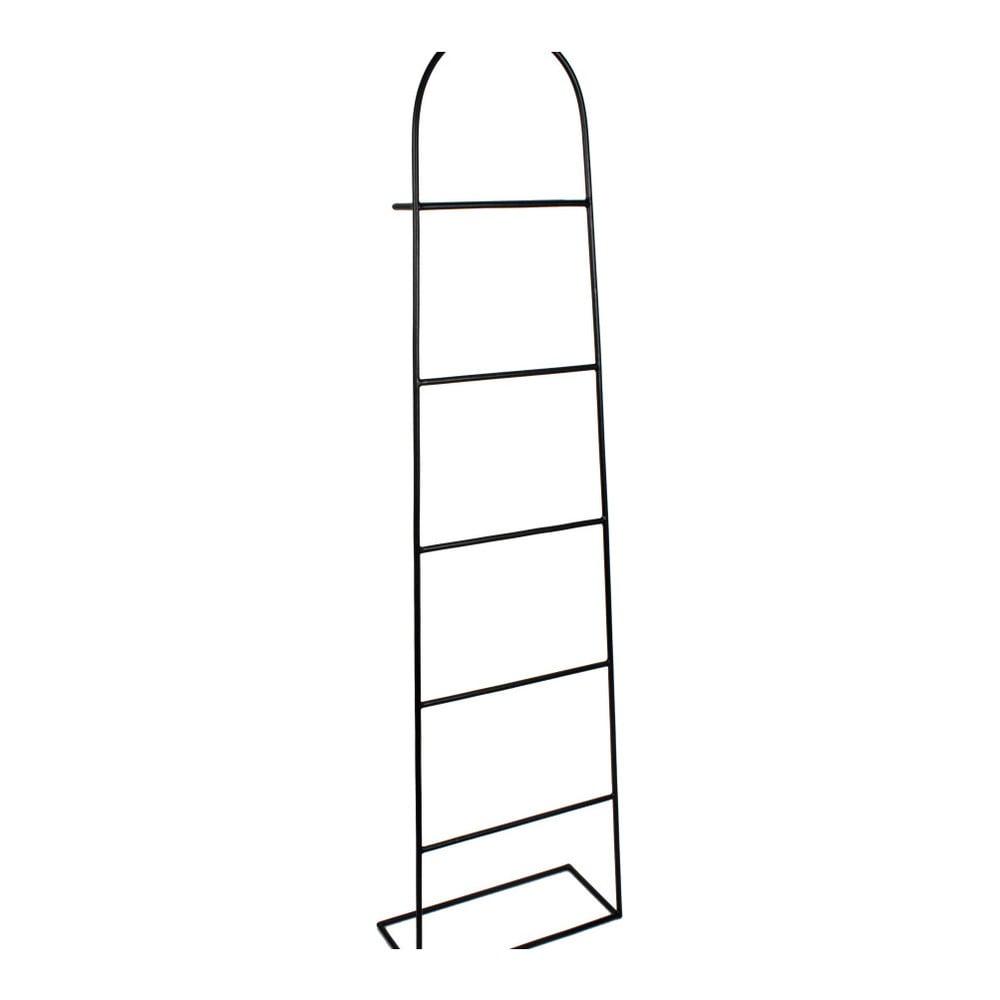 Čierny dekoratívny rebrík HARTÔ Aubin, výška 150 cm