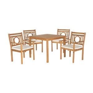 Set záhradného stolíka a stoličiek z akáciového dreva Safavieh Malaga