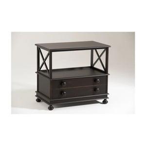 Čierny drevený TV stolík Castagnetti Abby
