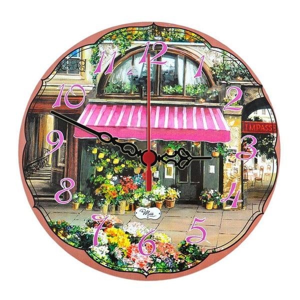Nástenné hodiny Flower Stall, 30 cm