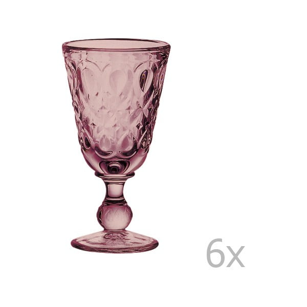 Sada 6 ametystových pohárov na víno Lyonnais, 230 ml