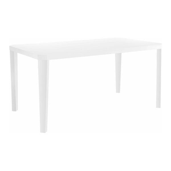 Lesklý biely jedálenský stôl Støraa Argos, 90 x 160 cm