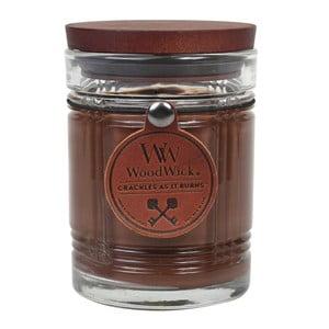 Sviečka s vôňou čierneho čaju, medu a koňaku Woodwick Antique, doba horenia 50 hodín