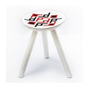 Ručne maľovaná stolička Bran, 38 cm