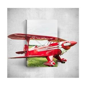 Nástenný 3D obraz Mosticx Red Plane, 40×60 cm