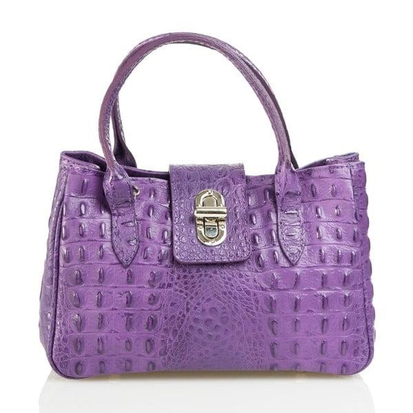 Kožená kabelka Laura, fialová