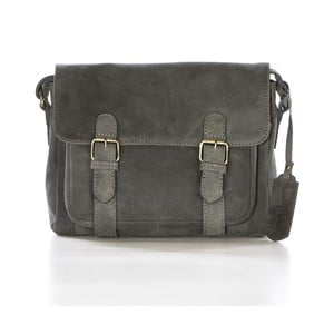 Sivá kožená kabelka Gianni Conti Ester