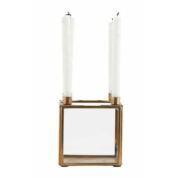 Svietnik Square Brass, 10x10 cm