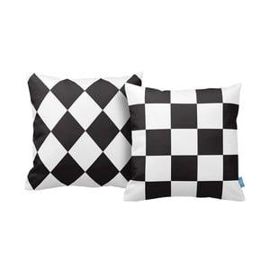 Sada 2 vankúšov Chess, 43x43 cm