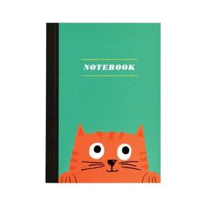 Zápisník s mačičkou vo formáte A6 linajkový Rex London, 60 strán