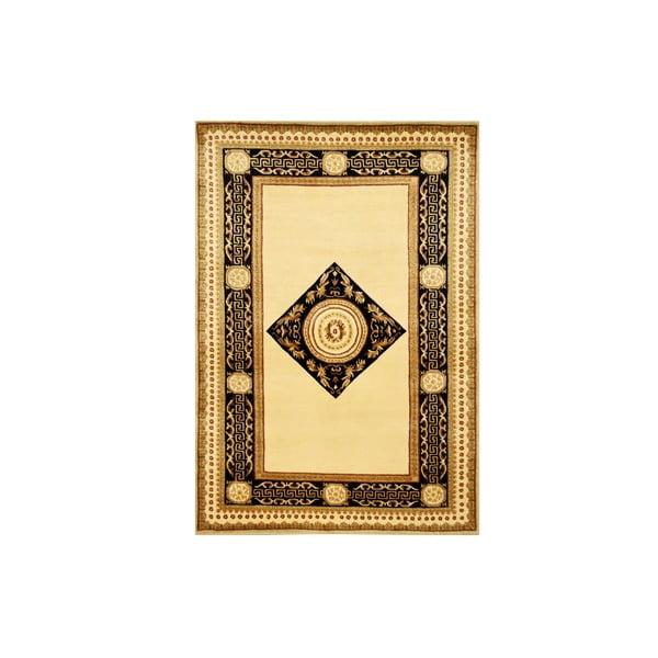 Vlnený koberec Vanilla Black, 70x140 cm