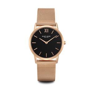 Dámske hodinky v ružovozlatej farbe s čiernym ciferníkom Eastside Upper Union
