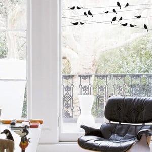 Samolepka na okno Vtáčiky