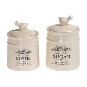 Sada dóz na kávu a cukor Porcelain