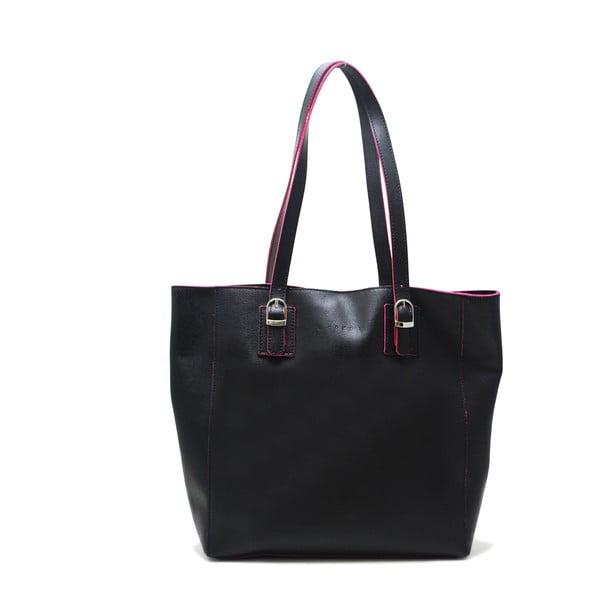 Kožená kabelka Cervo Black Fuchsia  5d34162f2da