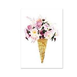 Plagát Leo La Douce Flower Cone, 21x29,7cm