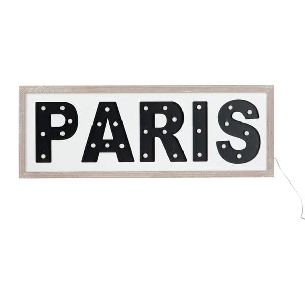 LED svietiaci závesný nápis Paris