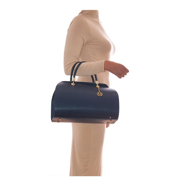 Kožená kabelka Mangotti 415 Blu