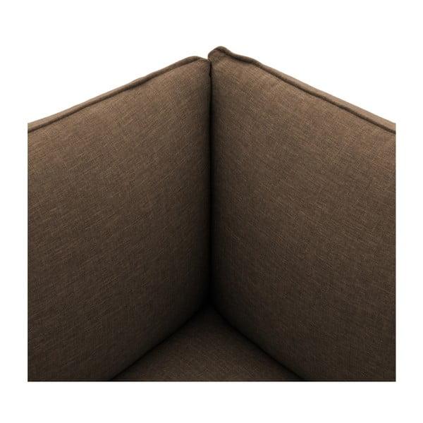 Tmavobéžová dvojmiestna pohovka VIVONITA Cube