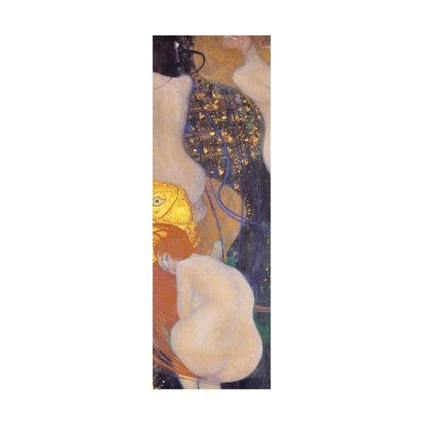 Reprodukcia obrazu Gustav Klimt - Goldfish, 90x30cm