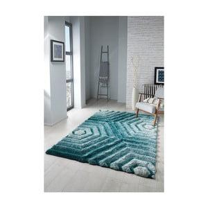 Modrozelený koberec Flair Rugs Hexagon Duck, 160×230 cm