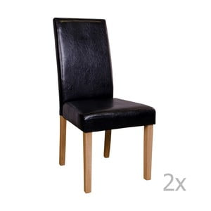 Sada 2 čiernych stoličiek House Nordic Mora