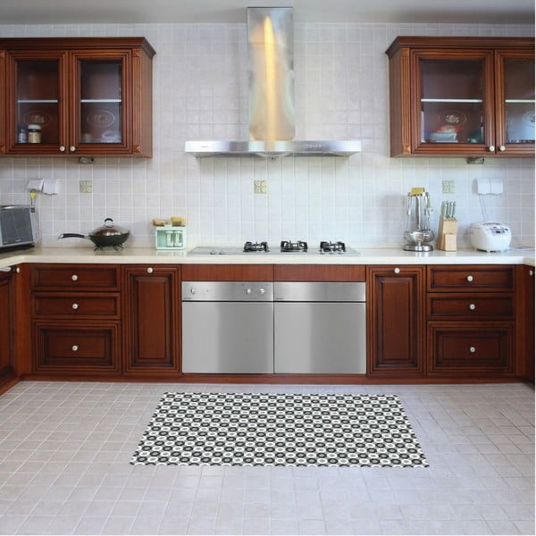 Vinylový koberec Dalia Grey, 52x140 cm