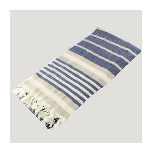 Hammam osuška Bath Style Blue & Beige, 90 x 180 cm