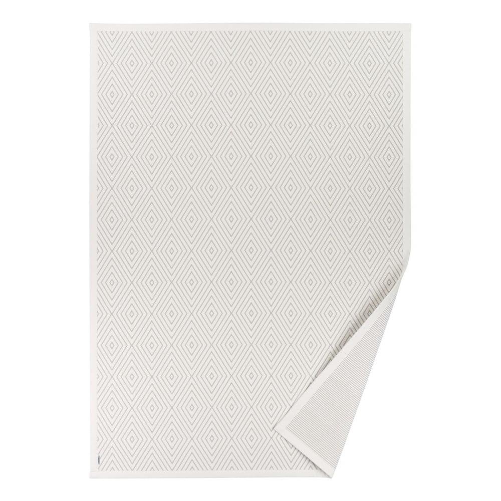 Biely obojstranný koberec Narma Kalana White, 80 x 250 cm