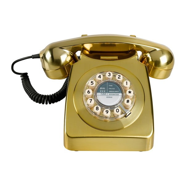 Retro funkčný telefón Serie 746 Brushed Brass