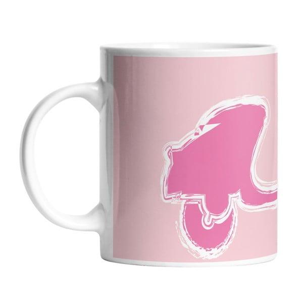 Keramický hrnček Pink Vespa, 330 ml