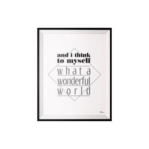 Plagát Wonderfull, 40x50 cm