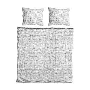Sivé obliečky Snurk Twirre, 200 x 200 cm