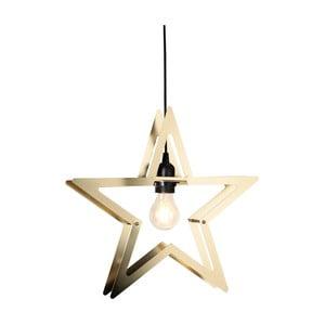 Závesná LED hviezda vo farbe mosadze