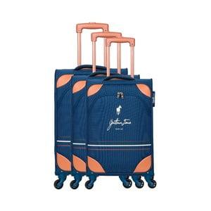 Sada 3 modrých cestovných kufrov na kolieskách GENTLEMAN FARMER Trippy