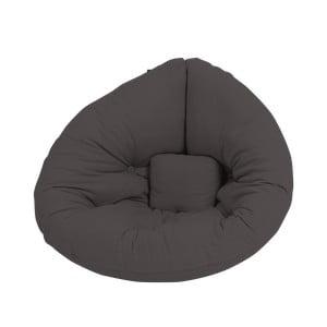 Rozkladacie detské kresielko tmavosivej farby Karup Design Mini Nido Dark Grey