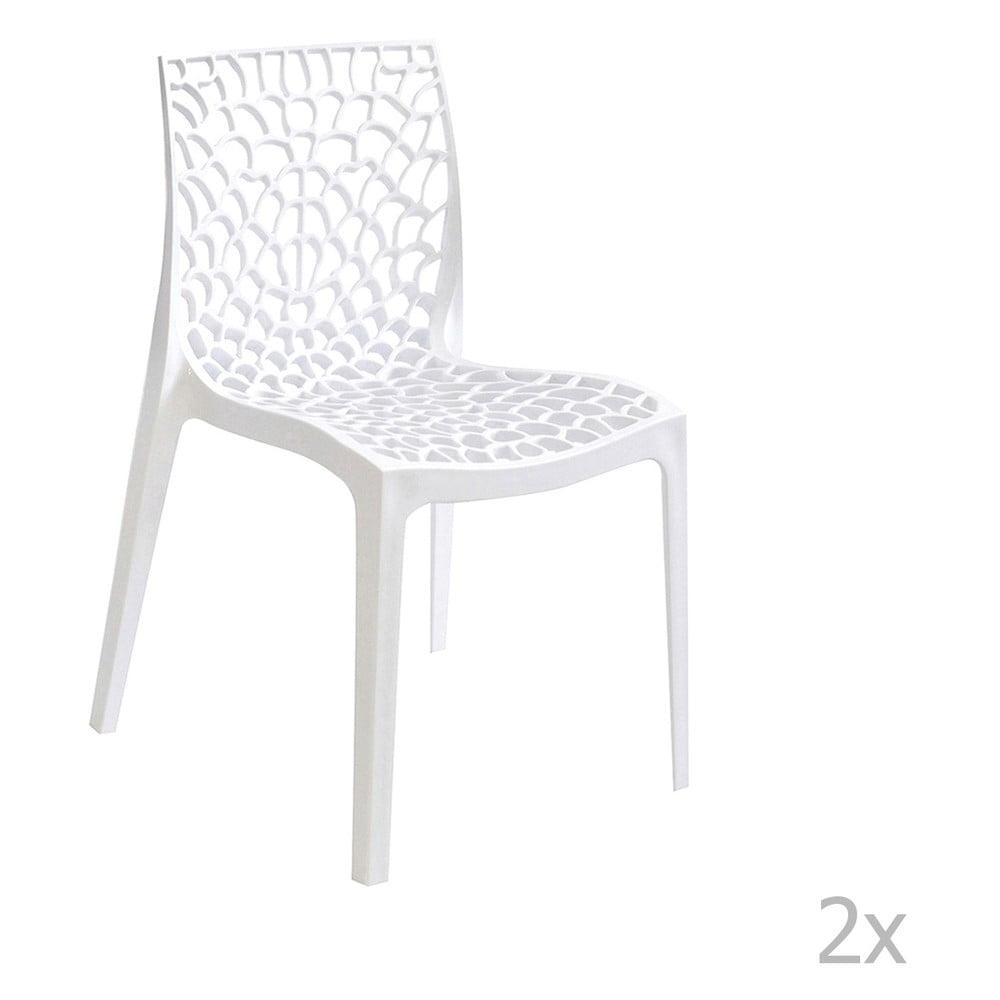 606ebc63a856 Sada 2 bielych jedálenských stoličiek Evergreen Hous Lilly
