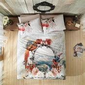 Obliečky s plachtou Red Parrots, 160x220 cm