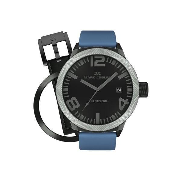 Pánske hodinky Marc Coblen s remienkom a krúžkom na ciferník naviac P45