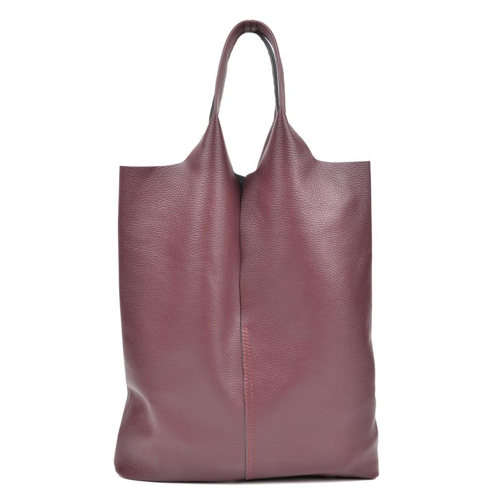 Vínovočervená kožená taška na nákup Isabella Rhea