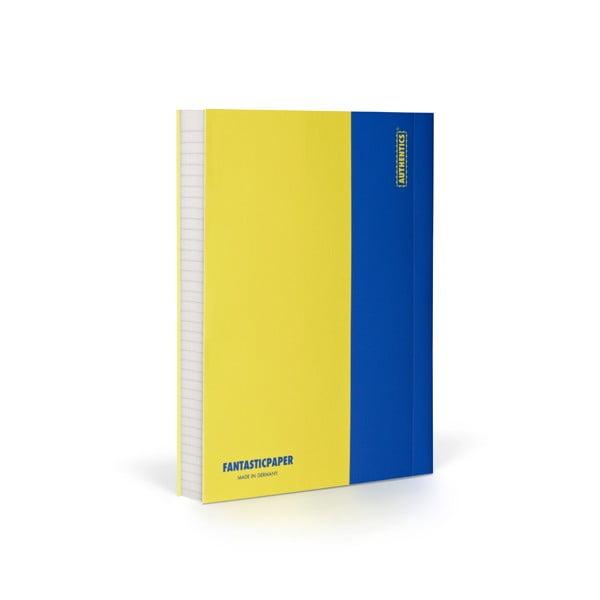 Zápisník FANTASTICPAPER A6 Lemon/Blue, riadkovaný