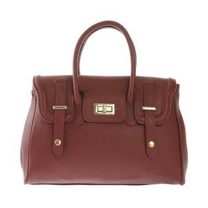Hnedá kožená kabelka Chicca Borse Ladonna