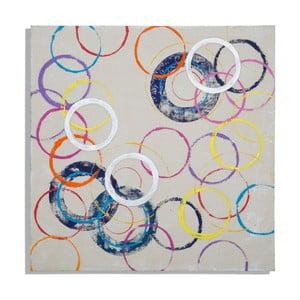 Ručne maľovaný obraz Mauro Ferretti Circles, 80 x 80 cm